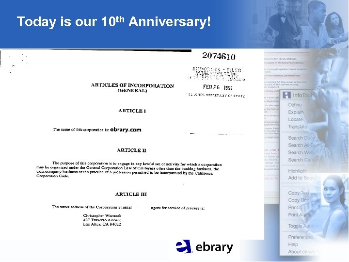 Today is our 10 th Anniversary!