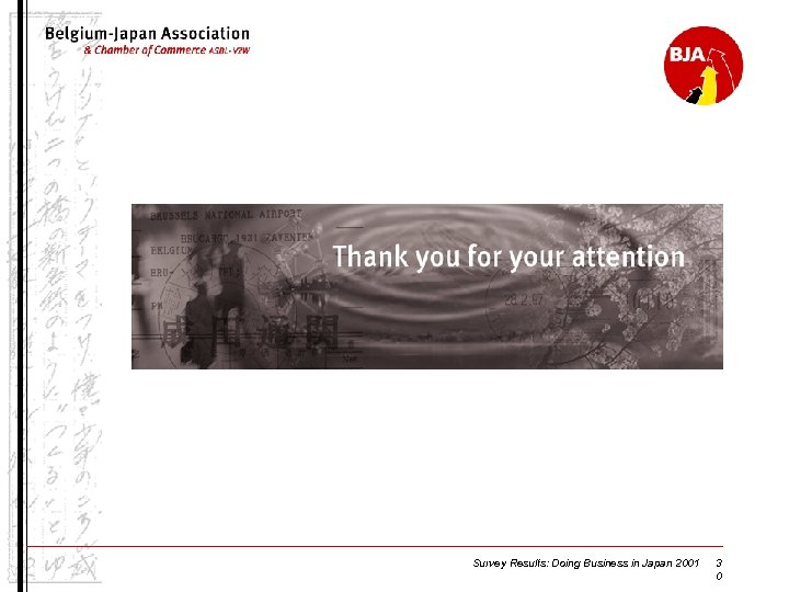 Survey Results: Doing Business in Japan 2001 3 0