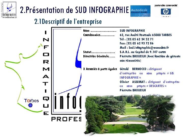 2. Présentation de SUD INFOGRAPHIE 2. 1 Descriptif de l'entreprise Nom. . . .