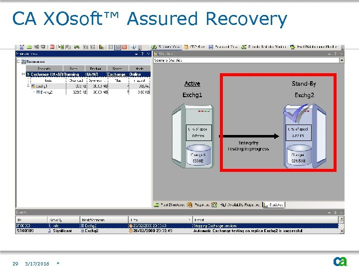 CA XOsoft™ Assured Recovery 29 3/17/2018 *