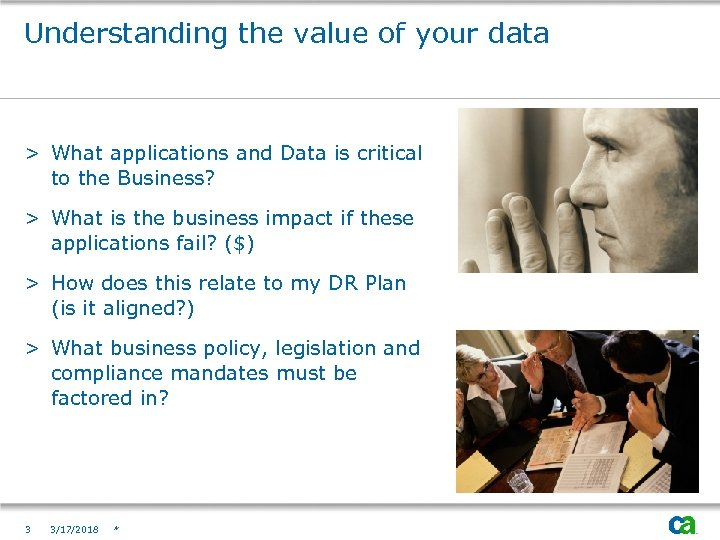 Understanding the value of your data > What applications and Data is critical to