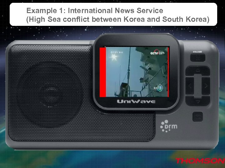 Example 1: International News Service (High Sea conflict between Korea and South Korea) Sample
