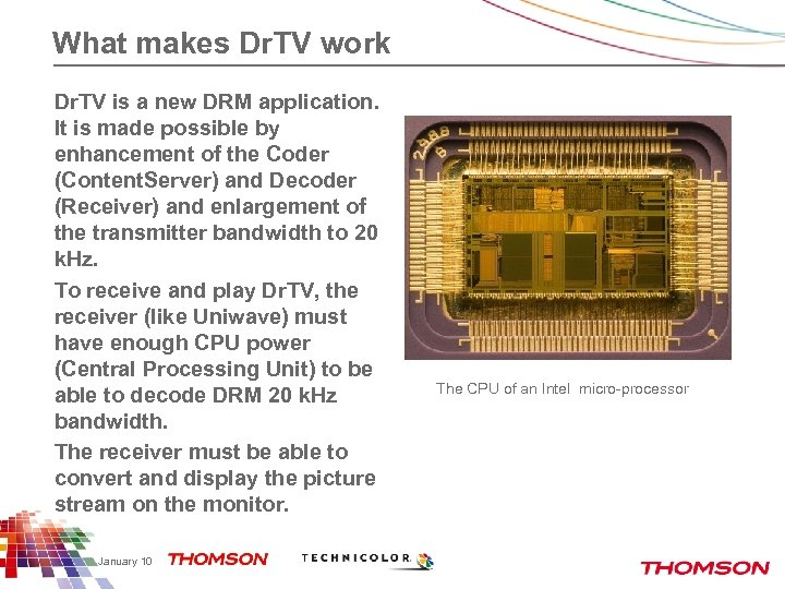 What makes Dr. TV work Dr. TV is a new DRM application. It is