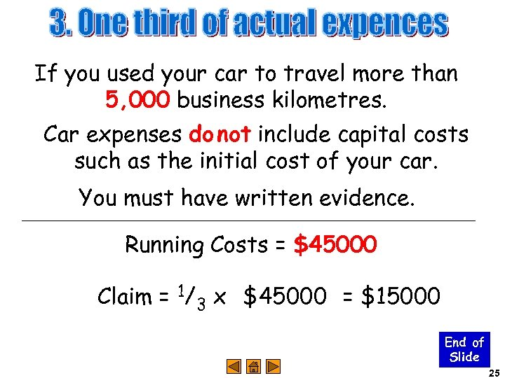 If you used your car to travel more than 5, 000 business kilometres. Car