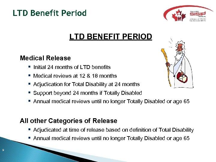 LTD Benefit Period LTD BENEFIT PERIOD Medical Release Initial 24 months of LTD benefits