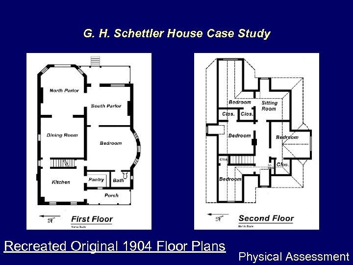 G. H. Schettler House Case Study Recreated Original 1904 Floor Plans Physical Assessment