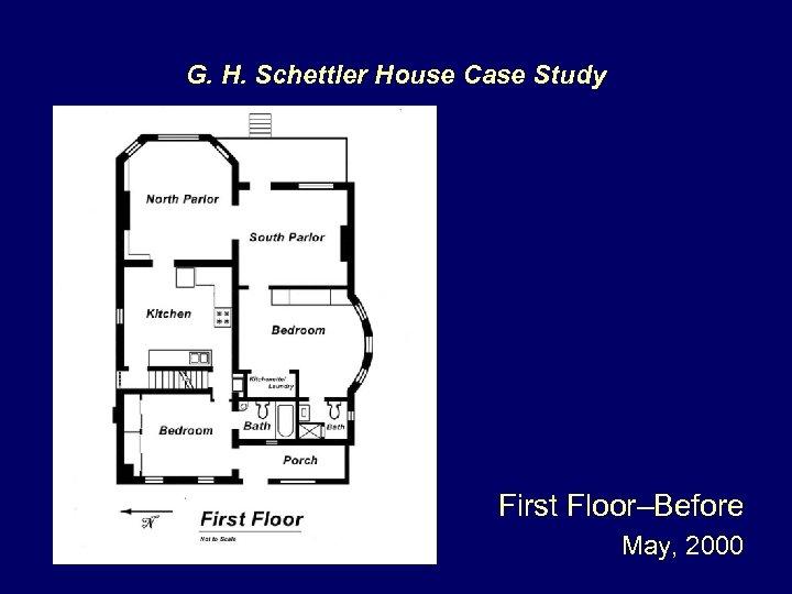 G. H. Schettler House Case Study First Floor–Before May, 2000