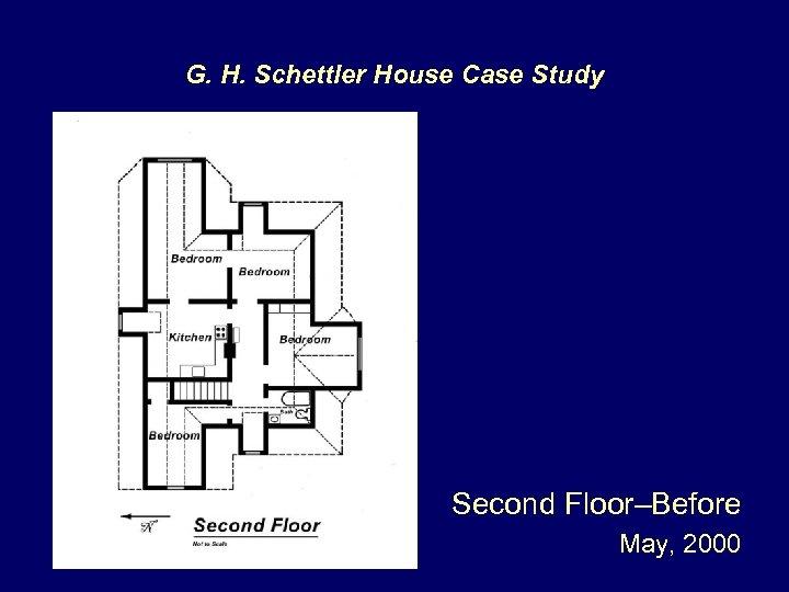 G. H. Schettler House Case Study Second Floor–Before May, 2000