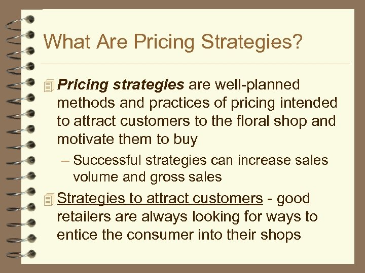 What Are Pricing Strategies? 4 Pricing strategies are well-planned methods and practices of pricing