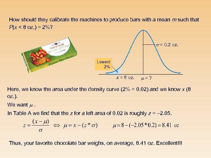 How should they calibrate the machines to produce bars with a mean m such