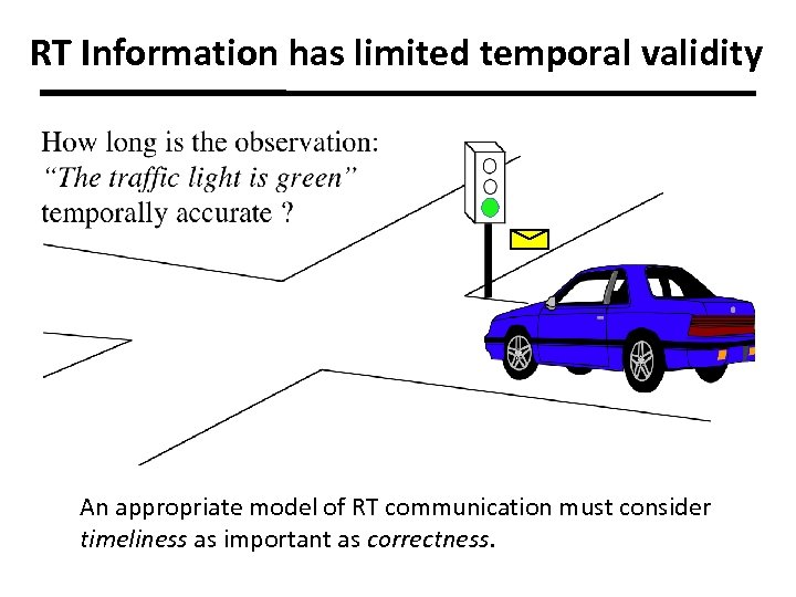 RT Information has limited temporal validity An appropriate model of RT communication must consider