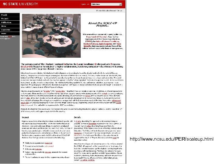 http: //www. ncsu. edu/PER/scaleup. html