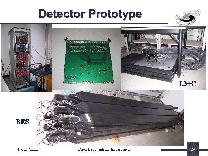 Detector Prototype L 3+C BES J. Cao (IHEP) Daya Bay Neutrino Experiment 26