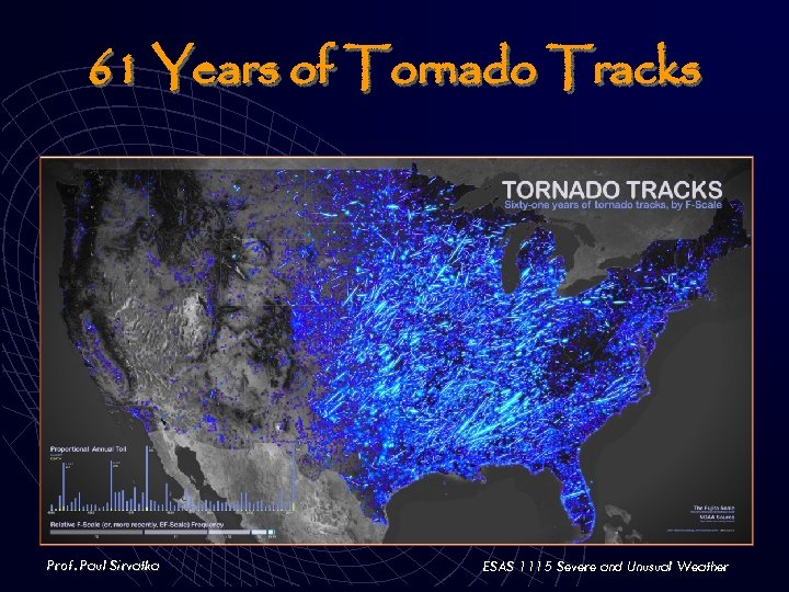 61 Years of Tornado Tracks Prof. Paul Sirvatka ESAS 1115 Severe and Unusual Weather