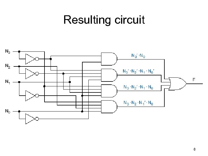 Resulting circuit 6