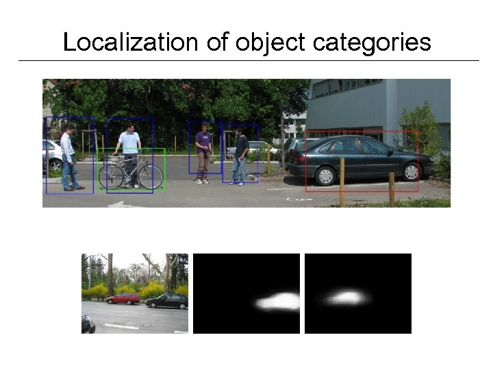 Localization of object categories