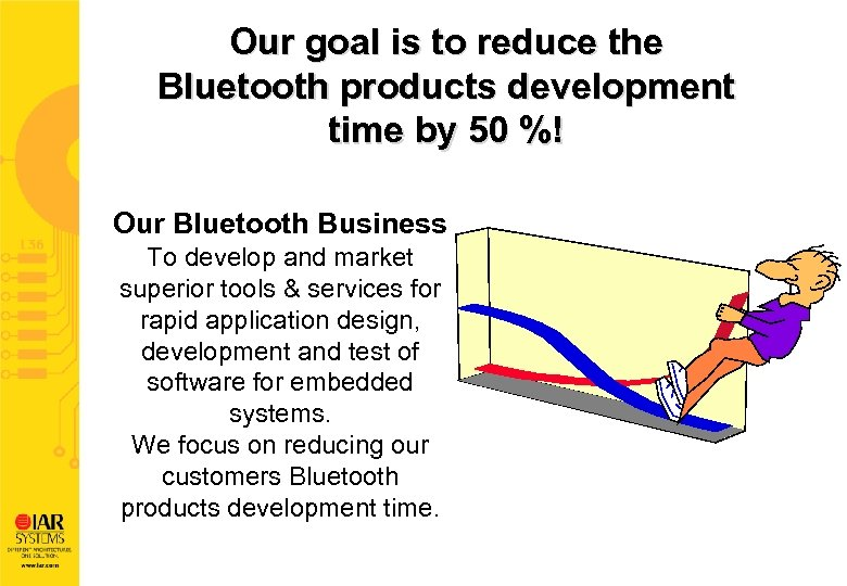 Our goal is to reduce the Bluetooth products development time by 50 %! Our