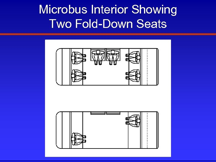 Microbus Interior Showing Two Fold-Down Seats