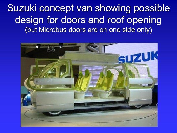 Suzuki concept van showing possible design for doors and roof opening (but Microbus doors