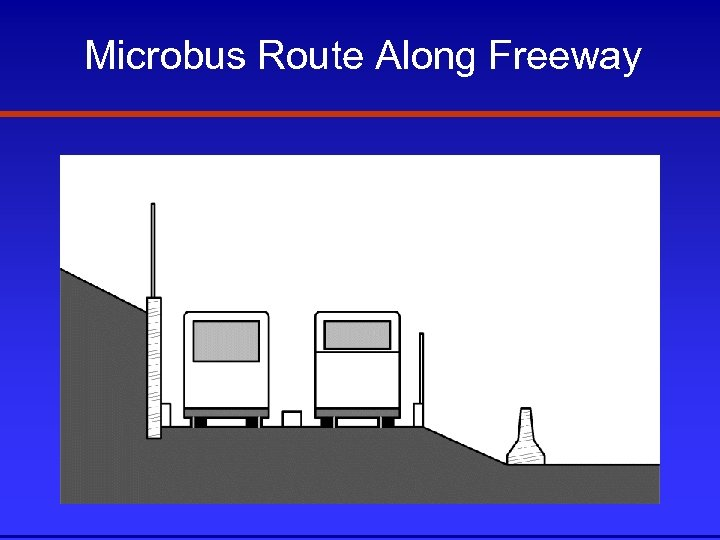 Microbus Route Along Freeway