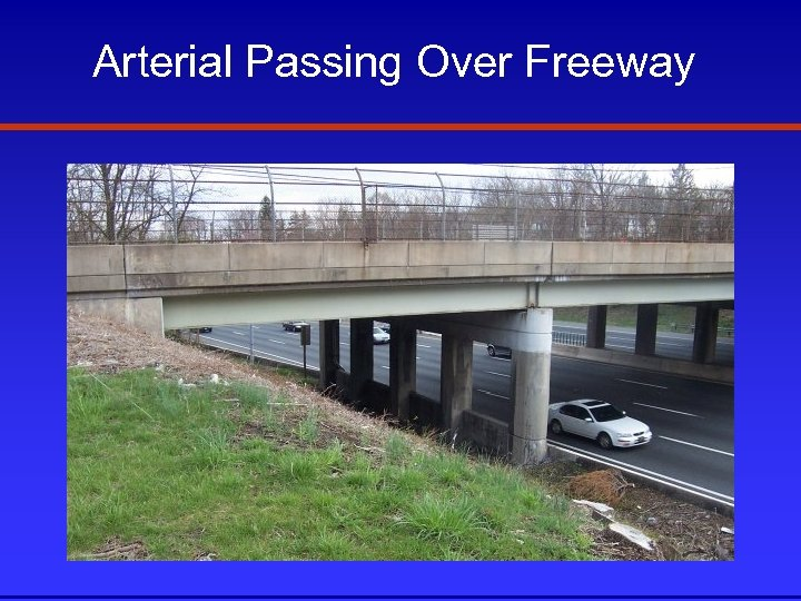 Arterial Passing Over Freeway