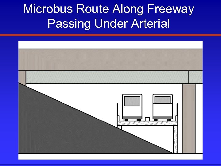 Microbus Route Along Freeway Passing Under Arterial
