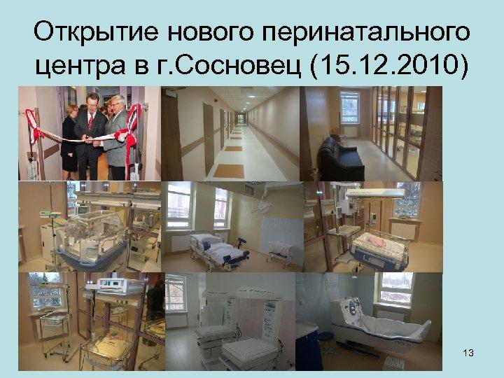 Открытие нового перинатального центра в г. Сосновец (15. 12. 2010) 13