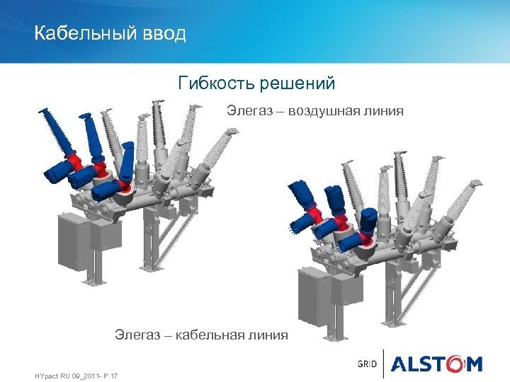 Кабельный ввод Гибкость решений Элегаз – воздушная линия Элегаз – кабельная линия HYpact RU