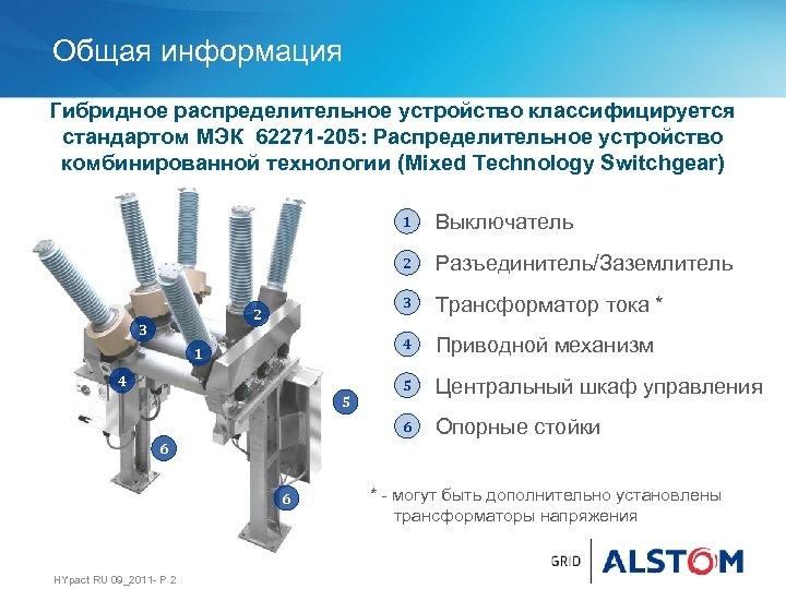 Общая информация Гибридное распределительное устройство классифицируется стандартом МЭК 62271 -205: Распределительное устройство комбинированной технологии