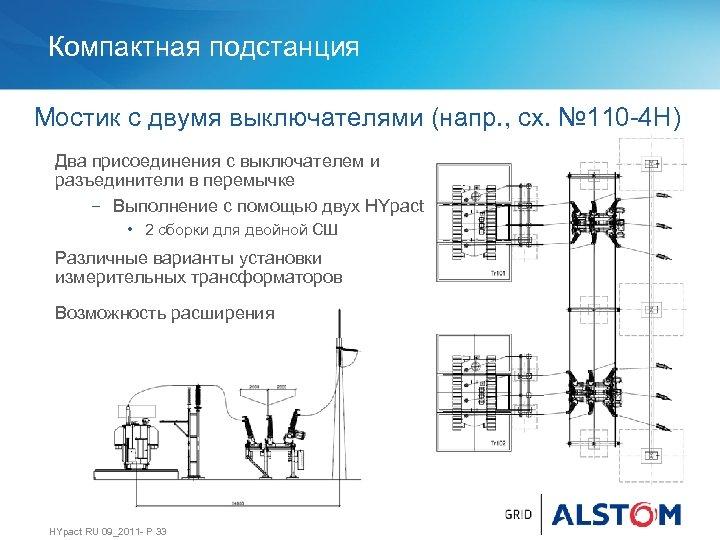 Компактная подстанция Мостик с двумя выключателями (напр. , сх. № 110 -4 Н) Два