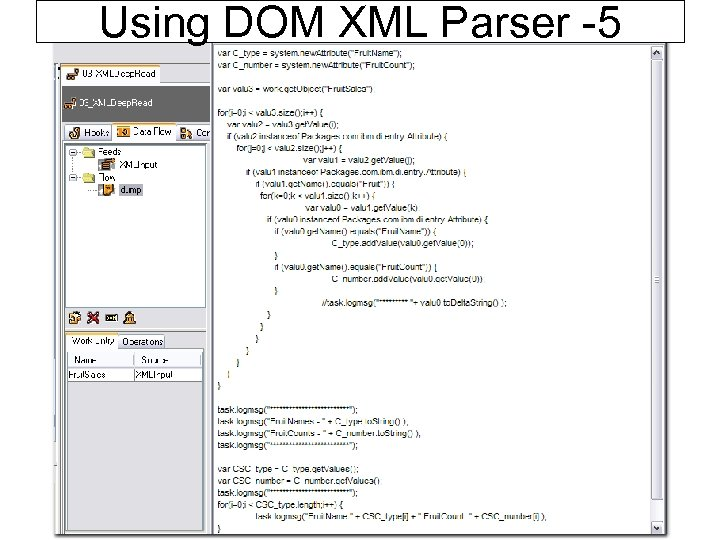 Using DOM XML Parser -5