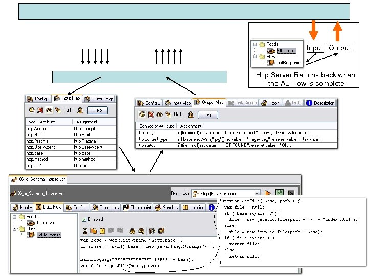 Input Output Http Server Returns back when the AL Flow is complete