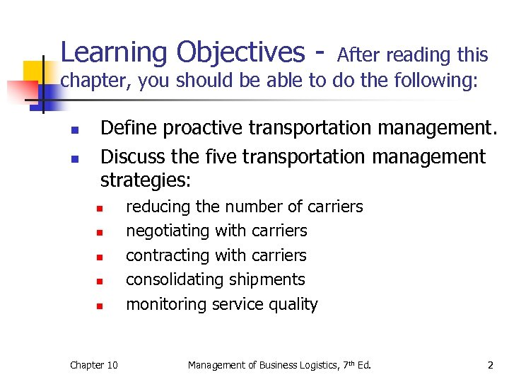 Learning Objectives - After reading this chapter, you should be able to do the