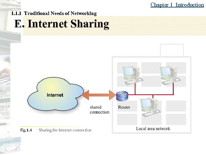 Chapter 1 Introduction 1. 1. 1 Traditional Needs of Networking E. Internet Sharing