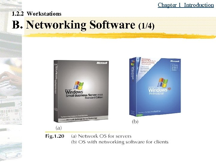 Chapter 1 Introduction 1. 2. 2 Workstations B. Networking Software (1/4)