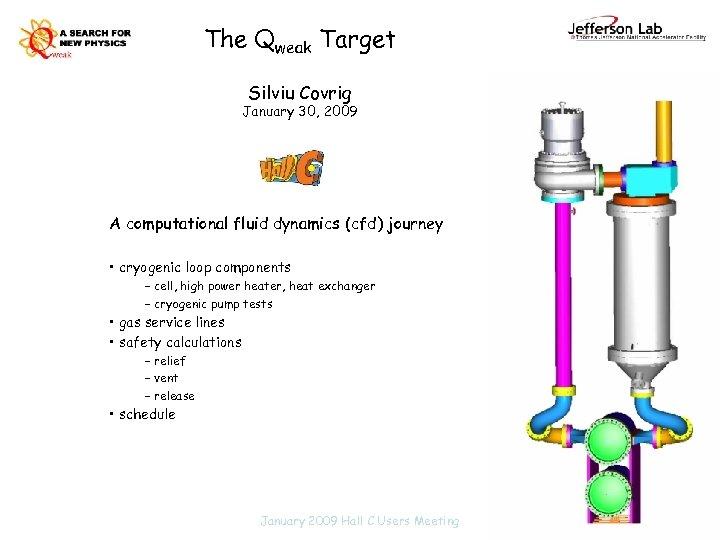 The Qweak Target Silviu Covrig January 30, 2009 A computational fluid dynamics (cfd) journey