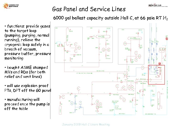Gas Panel and Service Lines 6000 gal ballast capacity outside Hall C, at 66