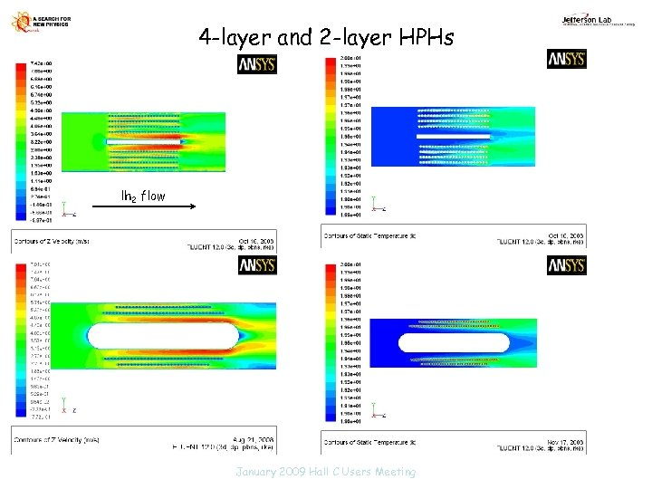 4 -layer and 2 -layer HPHs lh 2 flow January 2009 Hall C Users