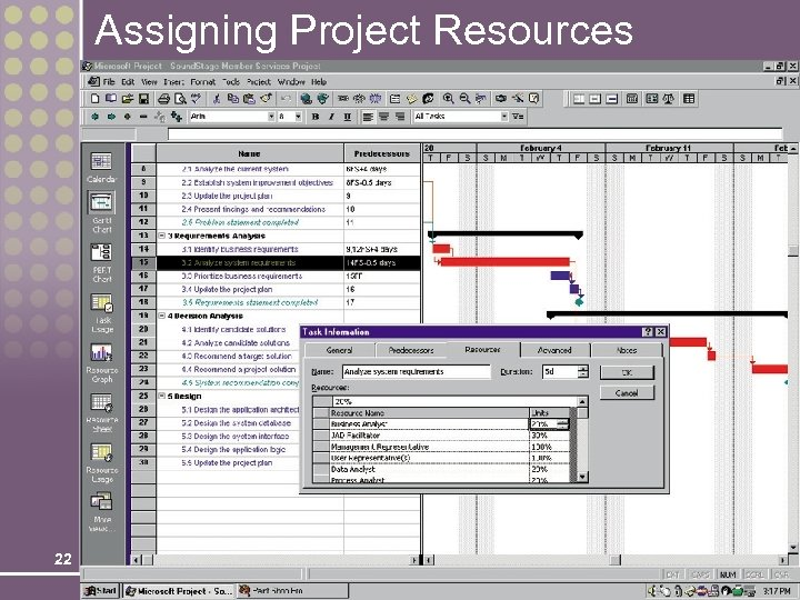 Assigning Project Resources 22