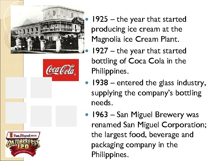 1925 – the year that started producing ice cream at the Magnolia ice Cream