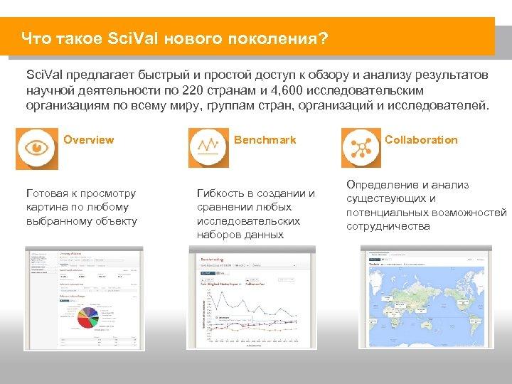 Что такое Sci. Val нового поколения? Sci. Val предлагает быстрый и простой доступ к