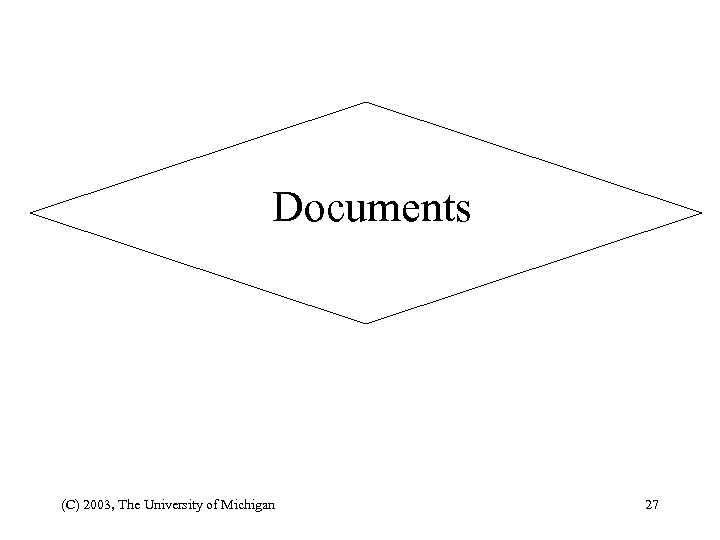 Documents (C) 2003, The University of Michigan 27