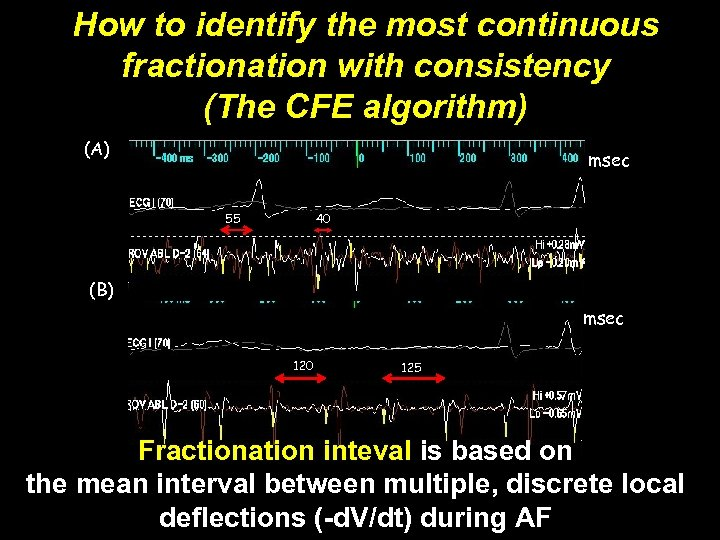 How to identify the most continuous fractionation with consistency Figure 1 (The CFE algorithm)