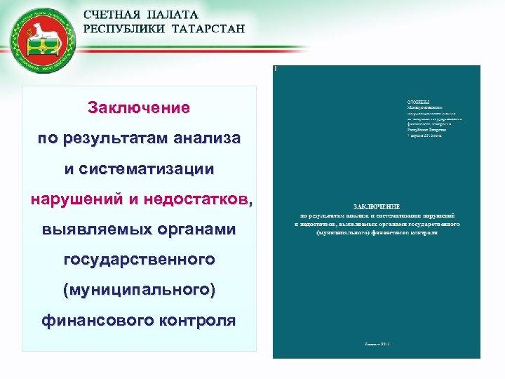 Заключение по результатам анализа и систематизации нарушений и недостатков, выявляемых органами государственного (муниципального) финансового