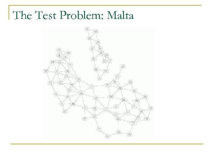 The Test Problem: Malta