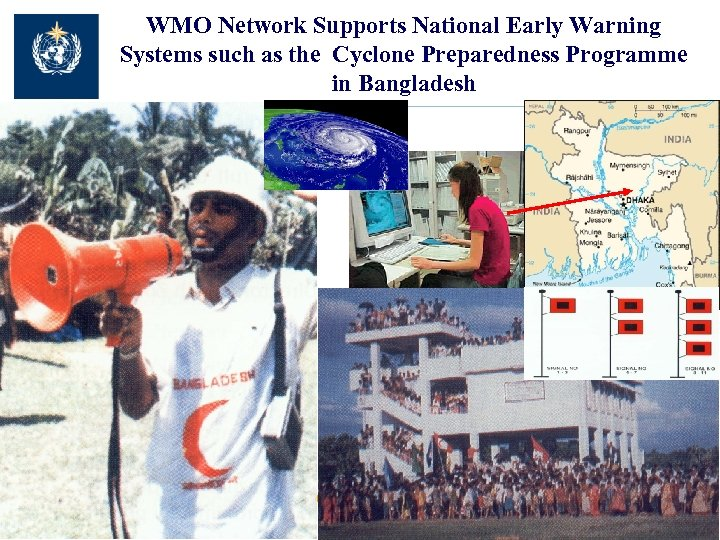 WMO Network Supports National Early Warning Systems such as the Cyclone Preparedness Programme in