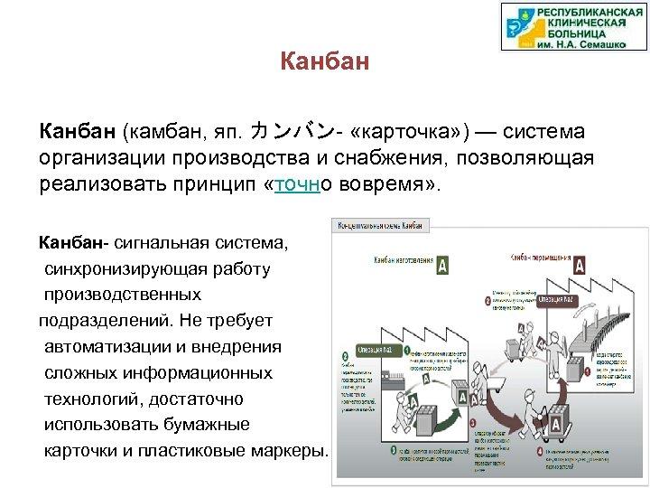 Канбан (камбан, яп. カンバン- «карточка» ) — система организации производства и снабжения, позволяющая реализовать