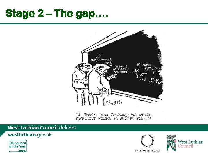 Stage 2 – The gap….