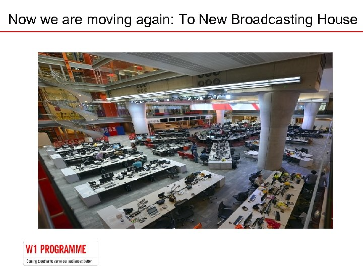 Now we are moving again: To New Broadcasting House