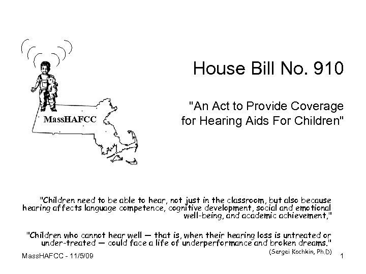House Bill No. 910 Mass. HAFCC